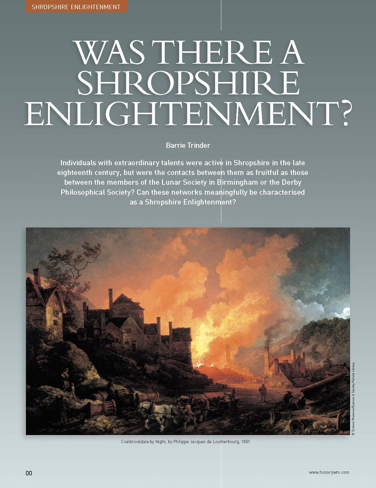 Was there a Shropshire enlightenment?