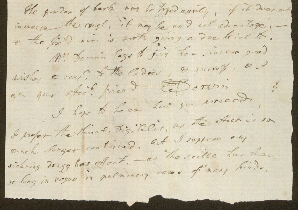 Erasmus Darwin letters