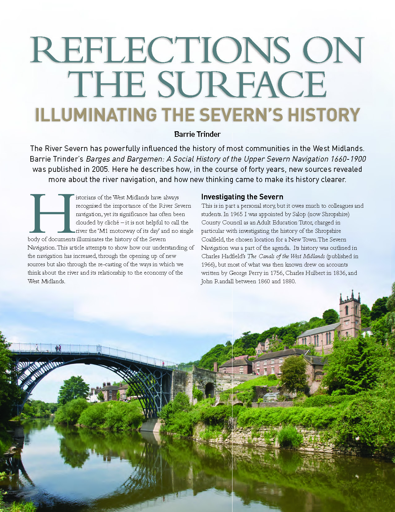 Reflections on the Surface: Illuminating the River Severns history